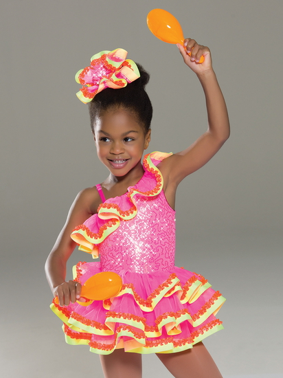 Pink Fever Modern and Tap costume for hire