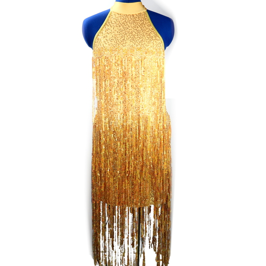 Gold Flapper Modern and Tap costume for hire