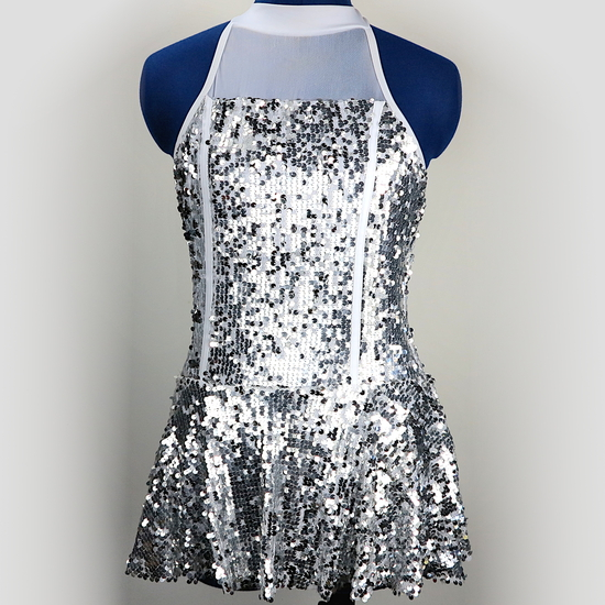 Silver Sparkle Modern and Tap costume for hire