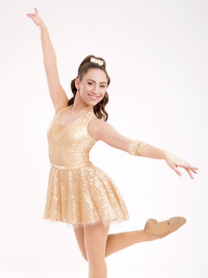 Gold Rush Modern and Tap costume for hire