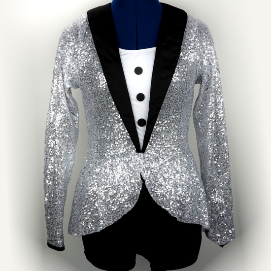 Ringmaster - Silver Modern and Tap costume for hire