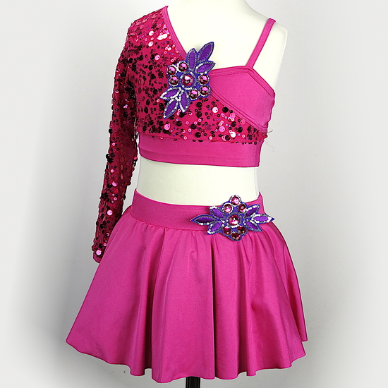 Single-Arm Sequin Modern and Tap costume for hire