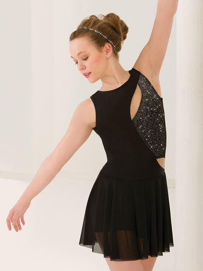 Black Cutaway Ballet costume for hire