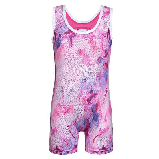 Pink Acro Unitard Modern and Tap costume for hire