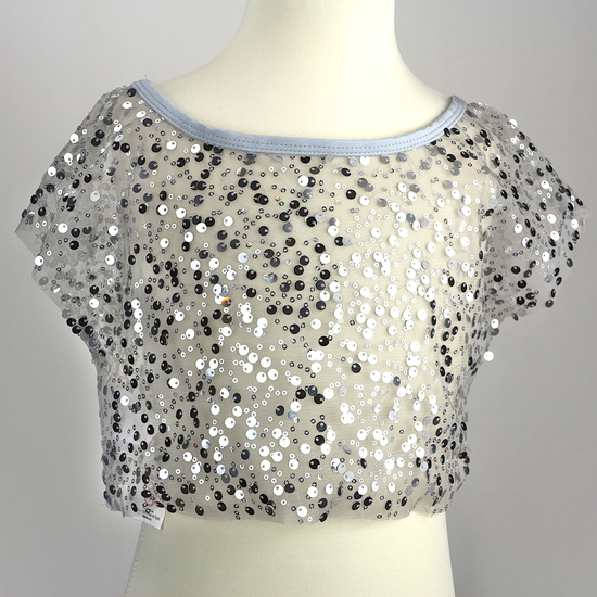 Silver Sequin T-Shirt Modern and Tap costume for hire