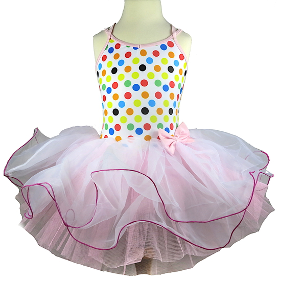 Pastel Polkadot Ballet costume for hire