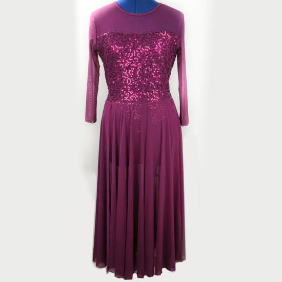 Burgundy Lyrical Dress Lyrical costume for hire