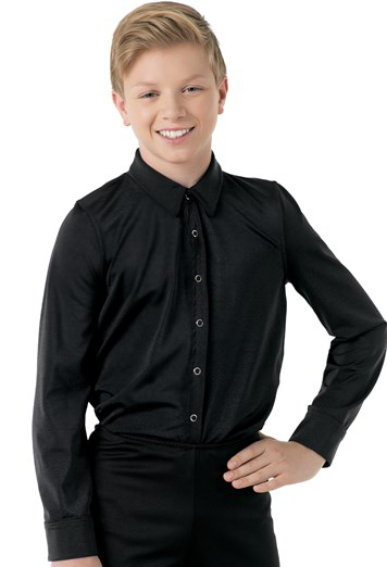 Male Dance Shirt - Black Male costume for hire