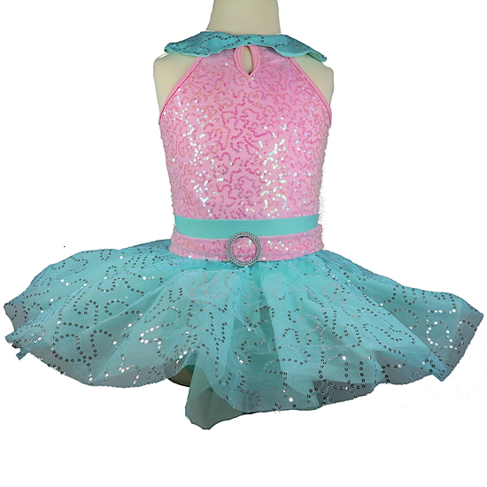 Mint and Pink Tutu Ballet costume for hire