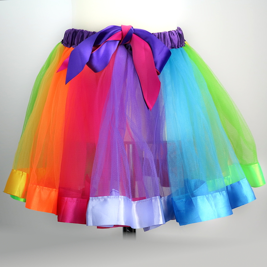 Rainbow skirt Ballet costume for hire