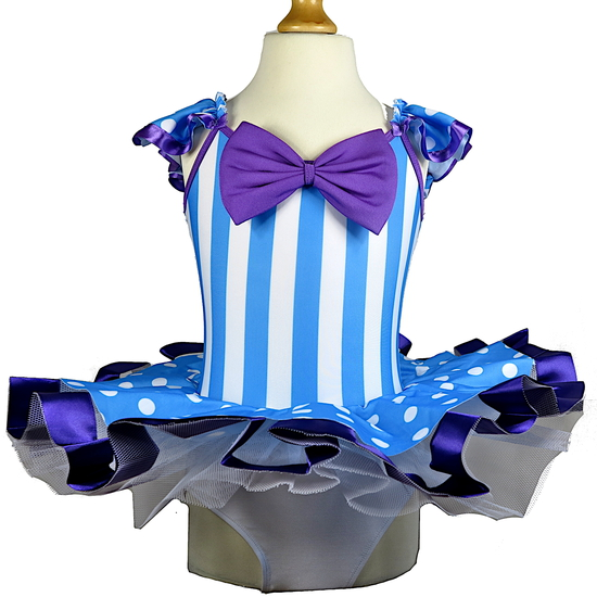 Blue and Purple Carnival Ballet costume for hire