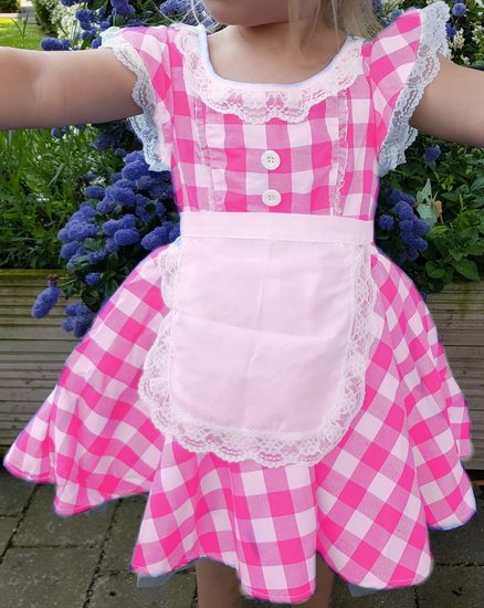 Pink Checked Dress Ballet costume for hire