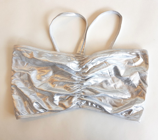 Silver Crop-Top White and Silver costume for hire