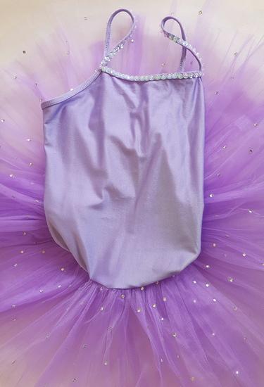 Purple Rhinestone Tutu Ballet costume for hire