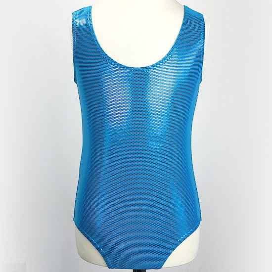 Turquoise Holographic leotard Modern and Tap costume for hire