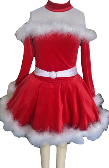 Red Winter Fur Ballet costume for hire