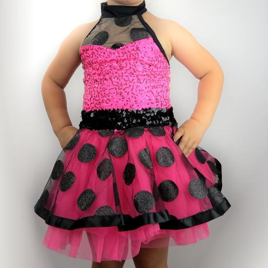Pink Polkadot Tutu Ballet costume for hire