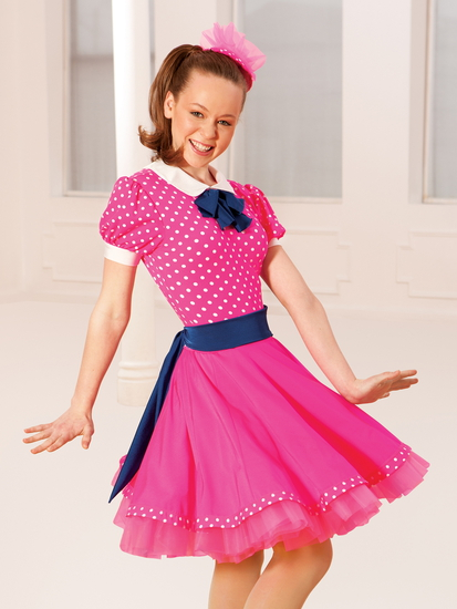 1950's Pink Modern and Tap costume for hire