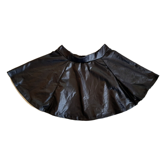 Black Leather-Look Skirt Black costume for hire
